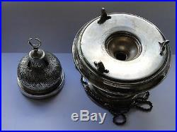 Incense Burner, Sterling Silver, Engraved Beautiful, Egyptian, Marked Dated 1890