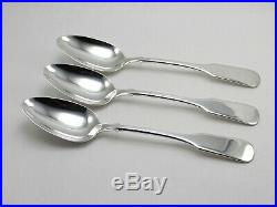 International 1810 Old Mark Sterling Silver Oval Soup Dessert Spoons Set of 3