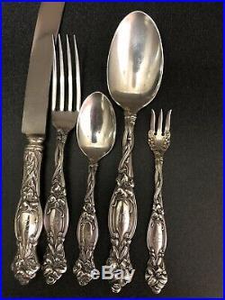 International Frontenac 60 Pc Dinner Size Sterling Flatware Set Old Marks