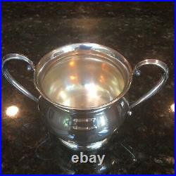 International Silver Sterling Silver Creamer & Sugar Marked Prelude With Tray