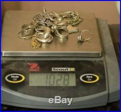 Jewelry Lot Sterling Silver All Marked 102.8 g Rings Bracelets Earrings ETC