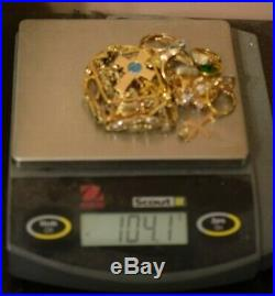 Jewelry Lot Sterling Silver All Marked 104.1 g All Pieces Gold Plated