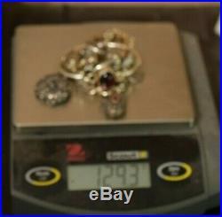 Jewelry Lot Sterling Silver All Marked 129.3 g Rings Bracelets Earrings ETC