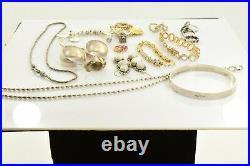 Jewelry Lot Sterling Silver All Marked 180.9 g Rings Bracelets Earrings ETC