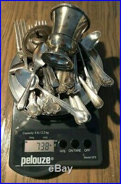 Lot Scrap Sterling Silver. 925 738 Grams All Marked