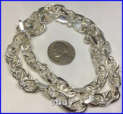 MASSIVE HEAVY 82g 925 CABLE LINK STERLING SILVER CHAIN 20 THICK SOLID MARKED
