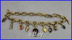 Mark Spirito Vermeil Sterling Heavy Link Necklace Carnelian & Faceted Stones