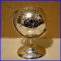 Miniature sterling silver globe dollhouse marked 925