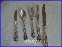 OLD MARK REED & BARTON FRANCIS I STERLING SILVER 20pcs FOR 4 FLATWARE SET&CHEST