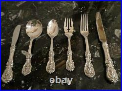 OLD MARK REED & BARTON FRANCIS I STERLING SILVER 36pce FOR 6 FLATWARE SET&CHEST