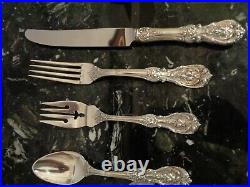 OLD MARK REED & BARTON FRANCIS I STERLING SILVER 40pc FOR 8 FLATWARE SET W CHEST