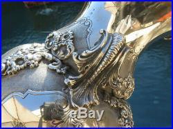 OLD MONUMENTAL SILVER ITALIAN VASE URN RARE MARKS LARGE HEAVY 44.4 Oz sterling
