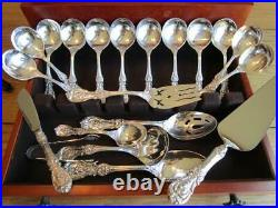 Old Mark Reed Barton Francis I Sterling Silver Flatware Set-s-12+servers80p