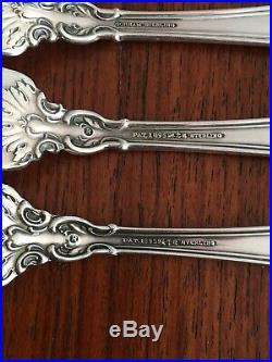 Older Gorham Chantilly Sterling Silver Flatware Set 43 Pc No Mono 1895 Lion Mark