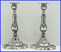 Pair Sterling Silver Gorham Chantilly Pattern Candle Sticks A602 Date Mark 1901