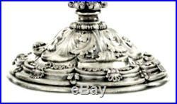 Pair silver antique candelabra, Fascist marked