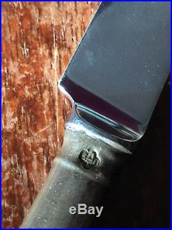 Pistol Grip Knives, London 1960, Marked, Georgian Style, Sterling Silver Handle
