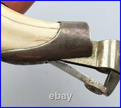 Rare Antique Handmade Natural Fang Sterling Silver Austria Hungary Marked 106 gr