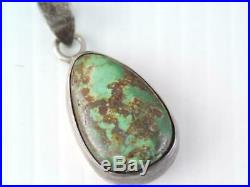 Rare Antique Mark Chee Navajo Indian Pawn Sterling Turquoise Pendant Look