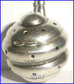 Rare Antique sterling silver beehive shape tea strainer infuser Pentagram mark