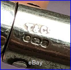 Rare Genuine Tiffany & Co Marked Sterling Silver 18k Gold Malachite Bangle