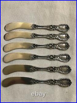 Rare Old Mark Pat-date Reed Barton Francis I Sterling Flatware 6 Butter Knives
