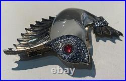 Rare Trifari Crown Mark Sterling Silver Fish Pin Brooch