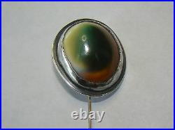 Rare Vintage Sterling Silver Operculum SAM KRAMER Stick Pin Mushroom Mark -#M079