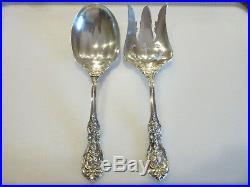 Reed & Barton Francis I Sterling Old Marks Salad Serving Set Fork Spoon NOmono