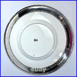 Royal Crown Derby Imari Sterling Silver Rim Large Charger 11.75 Marked Plummer