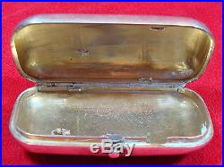 Russian Imperial 1880 Cigarette Case/Holder Silver marked 84 with Master Marks
