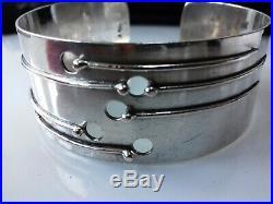 Rytosztuka Krakow Poland Marks Sterling Silver Modernist Cuff 1970s 38grams