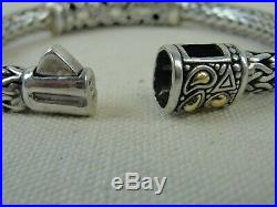 Samuel Benham 925 Sterling 18K Gold Multi Gemstone Woven Bracelet Marked BJC