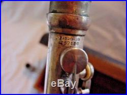 Silver King Clarinet Marked Us Military Band Clarinet Sterling Silver Bell