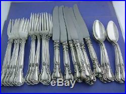Sterling GORHAM (6) 4pc Place Settings Flatware CHANTILLY 1895 old mark no mono