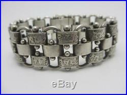 Sterling Silver Bracelet Antique Victorian 1878 Marked. Tbj00067