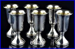 Sterling Silver Kiddish Kiddush Judaica Cups Set Of 6 Marked Web