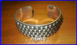 TAXCO STERLING SILVER CUFF BRACELET / MARKED TL120 MEXICO 925 / 54 grams