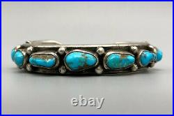 Tantalizing Turquoise and Sterling Silver Mark Chee Bracelet