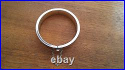 Taxco Mexico Sterling Silver Etched Bangle Bracelet Eagle Marked 29.8 Grams
