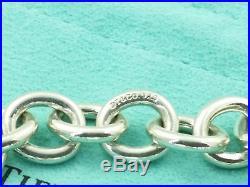 Tiffany & Co Sterling Silver Oval Link Bracelet Marked T & Co 925