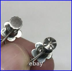 Vintage 30's Italian Peruzzi Silver Hanging Earrings w Winged Lion of St. Mark