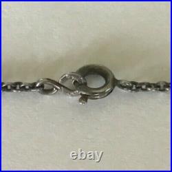 Vintage Antique Marked Sterling Filigree Amethyst Marcasite Pendant Necklace J1