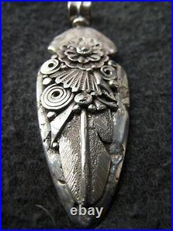 Vintage Ben Begaye Navajo marked Sterling Pendant 34 GRAMS SILVER arrowhead 3