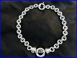Vintage Italian large sterling silver necklace chain magnificent marked