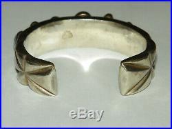 Vintage MARK CHEE (1914 1981) Sterling Silver & Turquoise Bracelet 118 Grams
