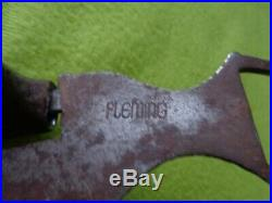 Vintage Marked FLEMING HandMade STERLING Silver SWEET IRON Cowhorse Show BIT