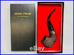 Vintage Peterson's Mark Twain Pipe Unsmoked New In Box Sterling Silver