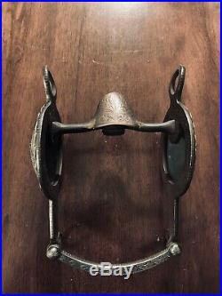 Vintage Sterling Silver Custom Overlay Huge Concho Show Bit Salinas Mp Marked