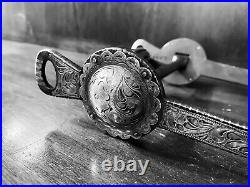 Vintage Sterling Silver Inlay Las Cruces Cheek Garcia Show Bit Mp Maker Marked